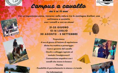 ESTATE ALL'OASI 2021: CAMPUS A CAVALLO